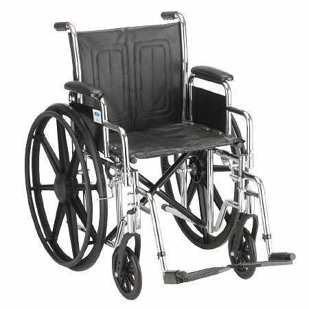 Nova Steel Wheelchair with Detachable Arms 5185S 18 inch - 1 ea