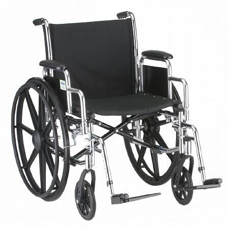 Nova Steel Wheelchair Detachable Desk Arms & Footrests 18 inch - 1 ea