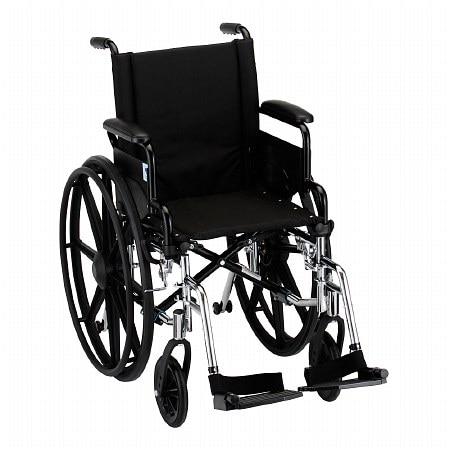 Nova Wheelchair Lightweight, Flip Back Detach Arm Swing Away Footrest 16 inch - 1 ea