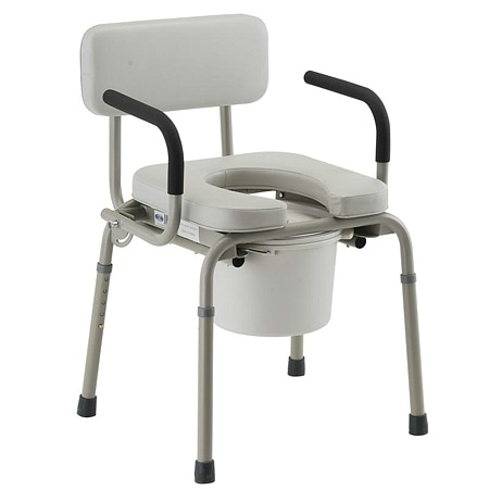 Nova Padded Drop Arm Commode 8901W - 1 ea
