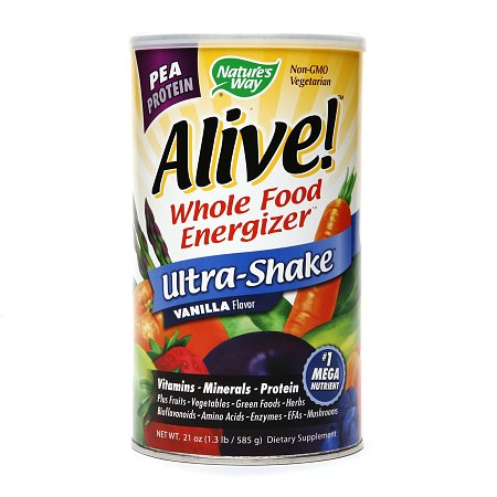 Nature's Way Alive! Whole Food Energizer Pea Protein Vanilla - 21 oz.