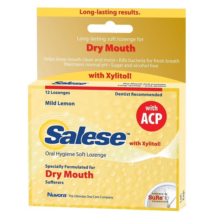 Salese Sensitive, Hours of Dry Mouth Relief, Moisturizing Lozenges Mild  Lemon