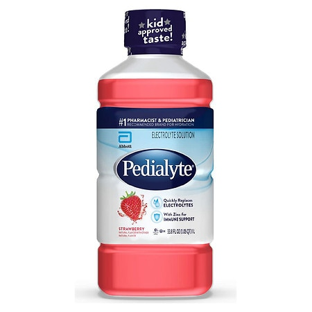 Pedialyte Oral Electrolyte Solution Strawberry - 1.1 qt