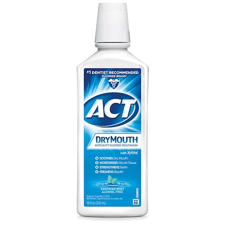 Act Mouthwash Dry Mouth >> ACT Total Care Dry Mouth Anticavity Mouthwash Soothing Mint | Walgreens