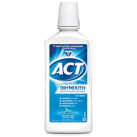 Act Mouthwash Dry Mouth >> Act Total Care Dry Mouth Anticavity Mouthwash Soothing Mint
