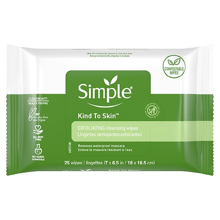 Simple Facial Wipes, Exfoliating