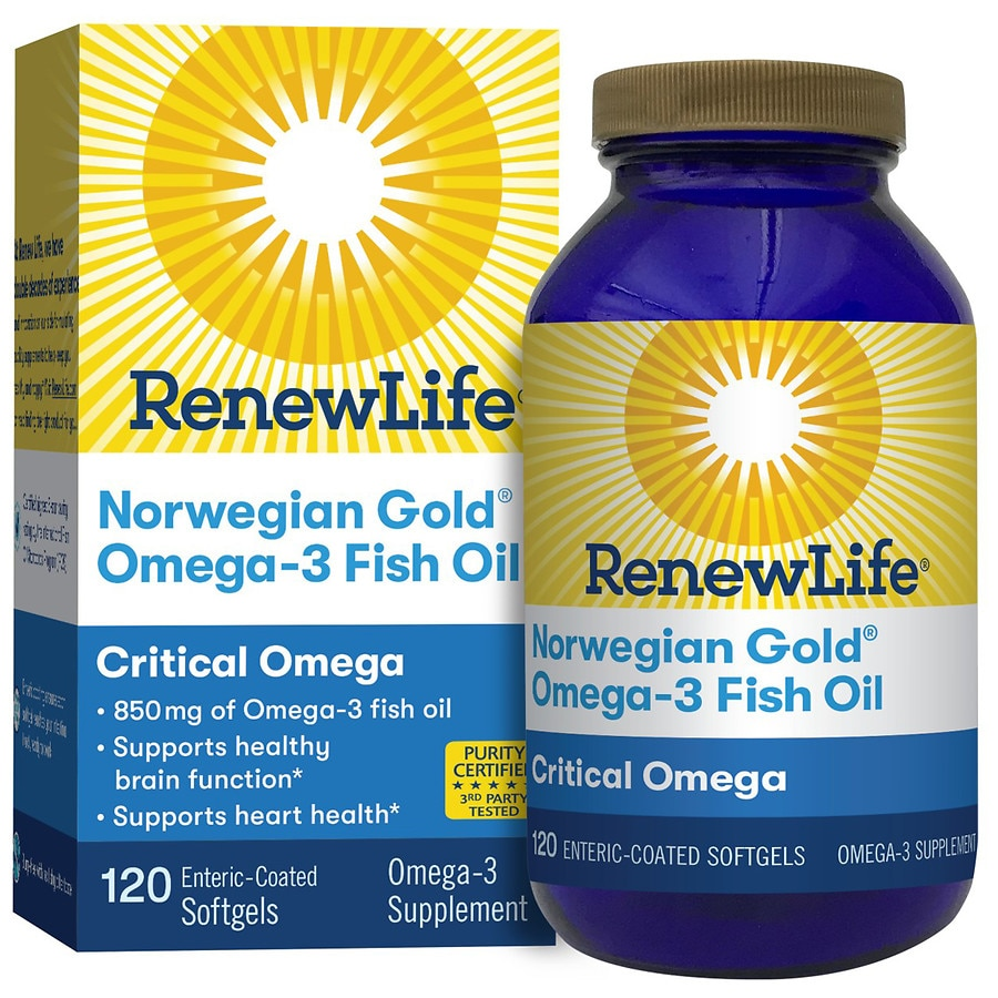 ReNew Life Norwegian Gold Adult Fish Oil - Critical Omega, Omega 3 Supplement Orange 120.0ea