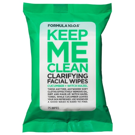 Keep Me Clean Purifying Facial Wipes Cucumber + Witch Hazel - 25 ea