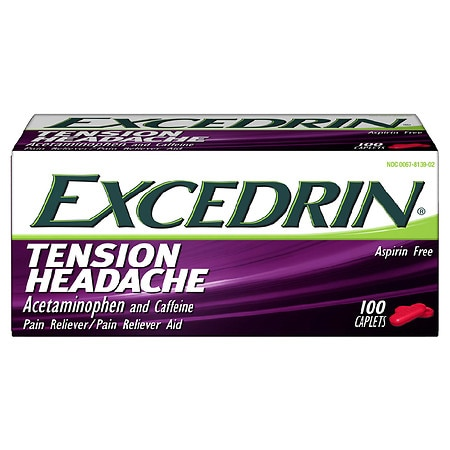 Excedrin Tension Headache Caplets - 100 ea
