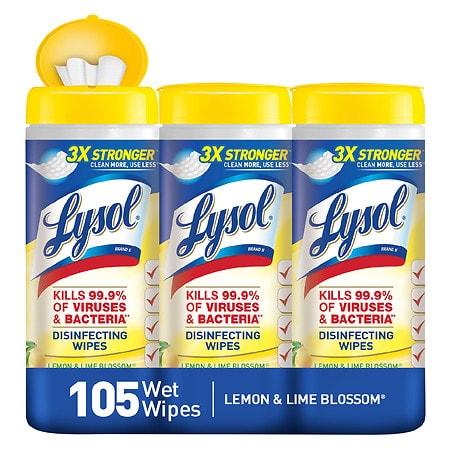 Lysol Disinfecting Wipes Lemon & Lime Blossom - 3 ea