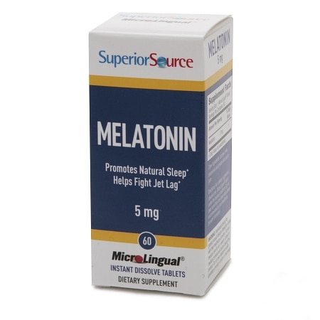 Superior Source Melatonin 5mg, Dissolve Tablets