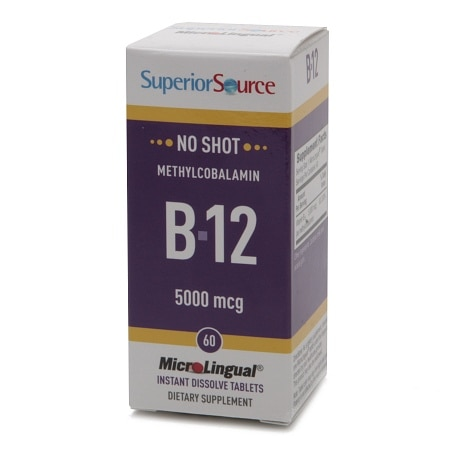 Superior Source No Shot Methylcobalamin B12 5000mcg, Dissolve Tablets