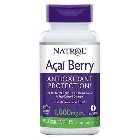Natrol Acai Berry 1000mg, Veggie Capsules - 75 ea