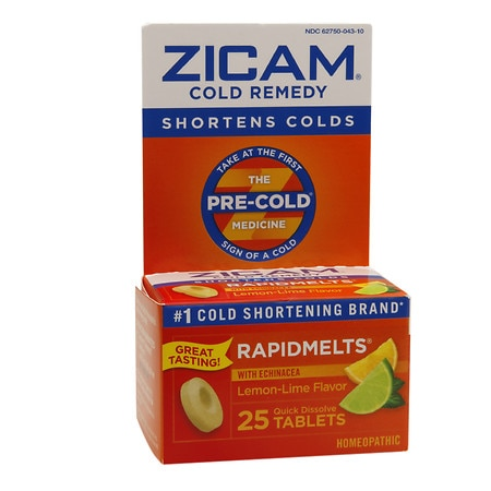 Zicam Cold Remedy RapidMelts Quick Dissolve Tablets with Echinacea Lemon-Lime