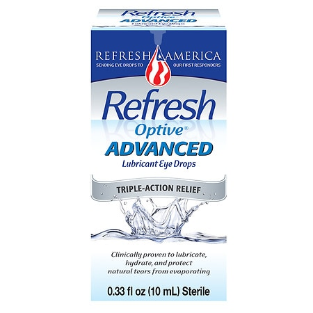 Refresh Optive Advanced Lubricant Eye Drops - 0.33 fl oz