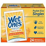 Wet Ones Antibacterial Hands & Face Wipes, Singles Citrus