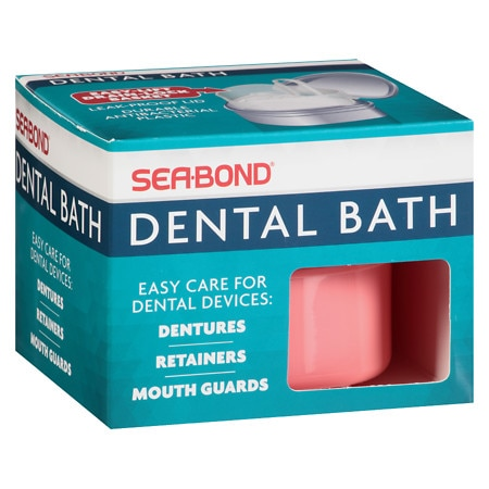 Sea-Bond Dental Bath for Dentures, Retainers and Guards - 1 ea