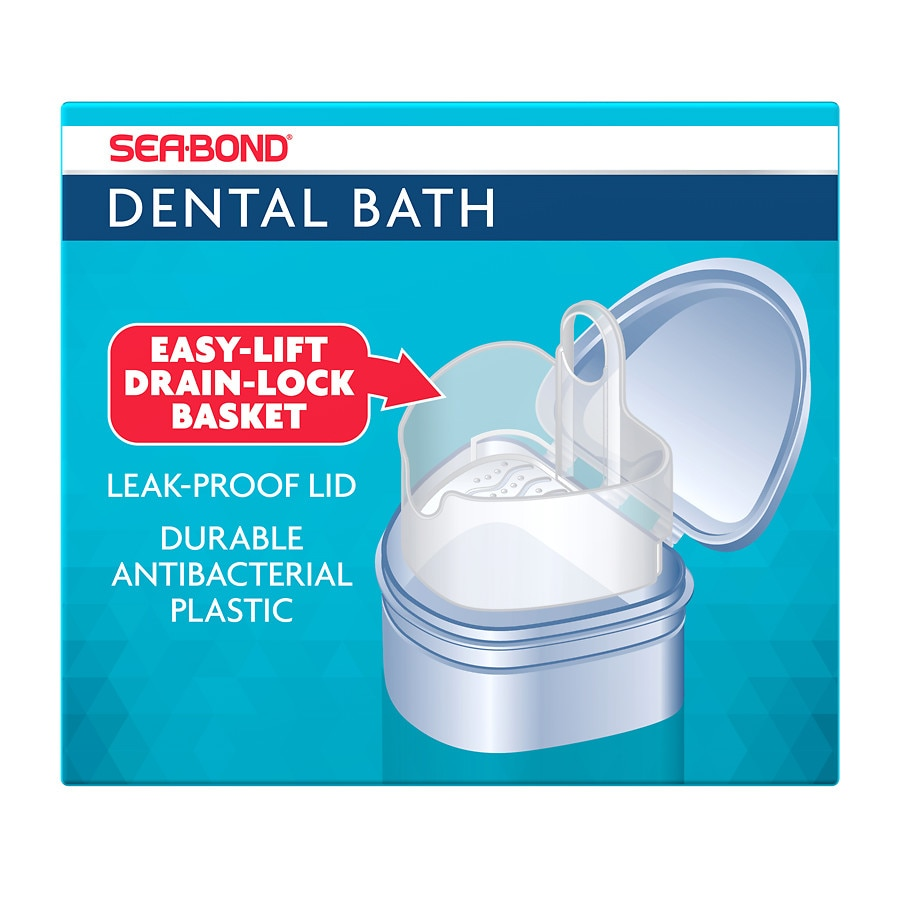 Sea-Bond Dental Bath for Dentures, Retainers and Guards | Walgreens
