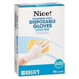 Nice! Disposable Powdered Vinyl Gloves White