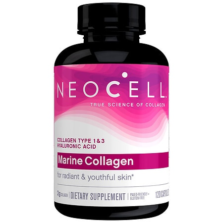NeoCell Fish Collagen + Hyaluronic Acid, Capsules - 120 ea