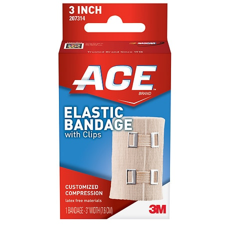 Ace Elastic Bandage with Clips, Model 207314