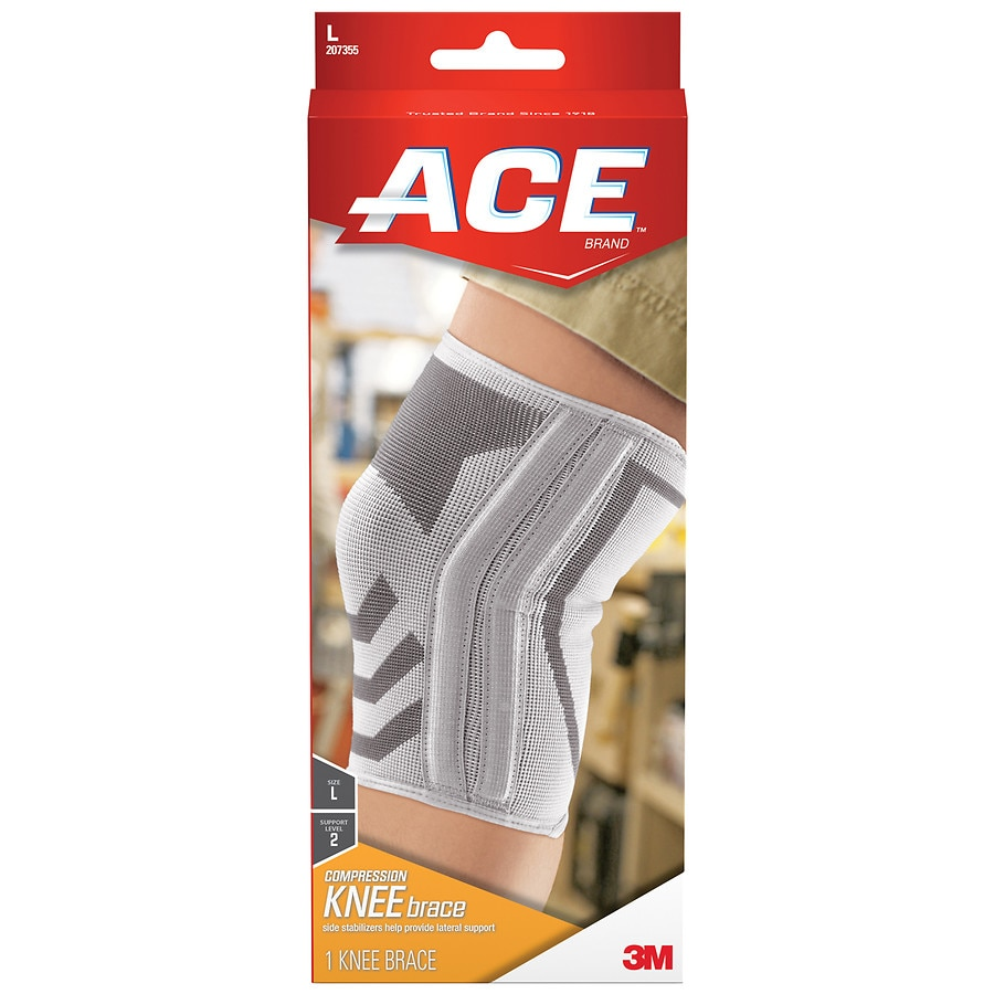 ceb23b5262 Ace Knitted Knee Brace with Side Stabilizers, Model 207355 | Walgreens