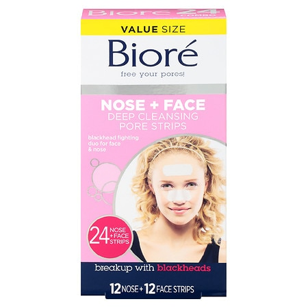 Biore Deep Cleansing Pore Strips Combo - 24 ea