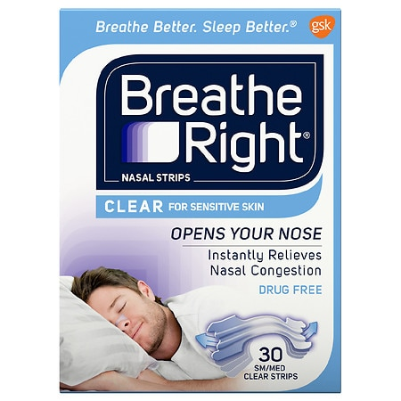 Breathe Right Nasal Strips, SmallMedium Clear, SmallMedium