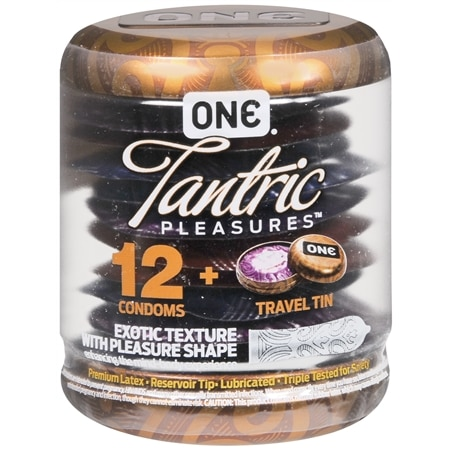One Tantric Pleasures Condoms - 12 ea