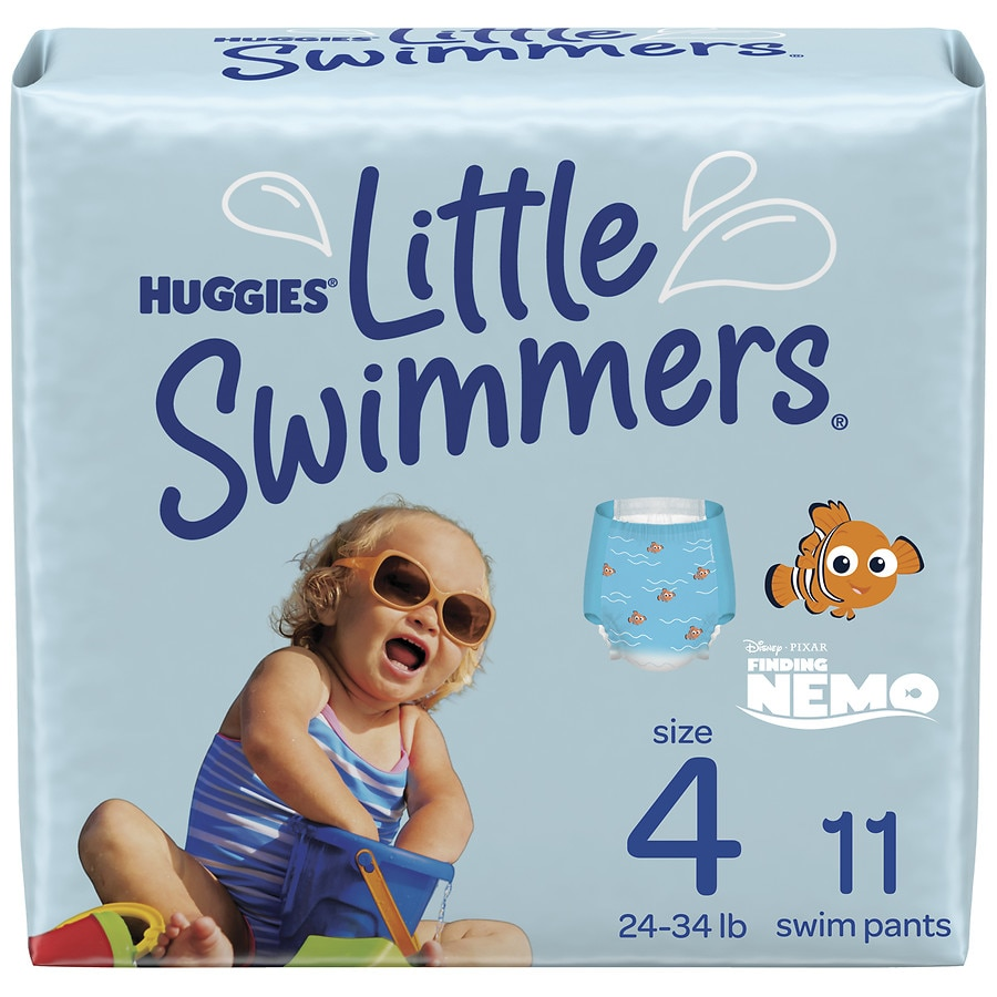 052aba3ff08a1 Huggies Little Swimmers Disposable Swimpants, Swim Diaper, Size 4 Medium11ea