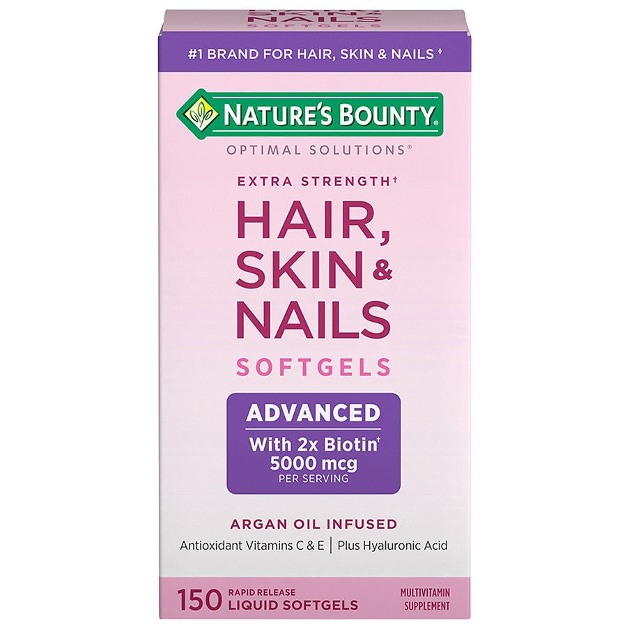 Nature\'s Bounty Optimal Solutions Hair, Skin & Nails Softgels ...