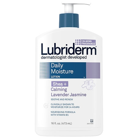 Lubriderm Daily Moisture Lotion Shea + Relaxing Lavender Jasmine - 16 fl oz