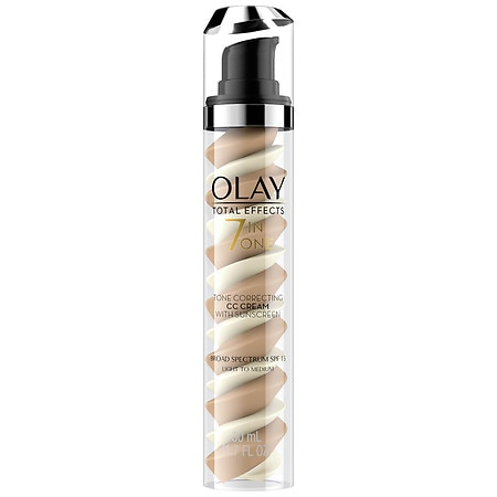 Olay Total Effects CC Cream Tone Correcting Face Moisturizer with Sunscreen Light to Medium