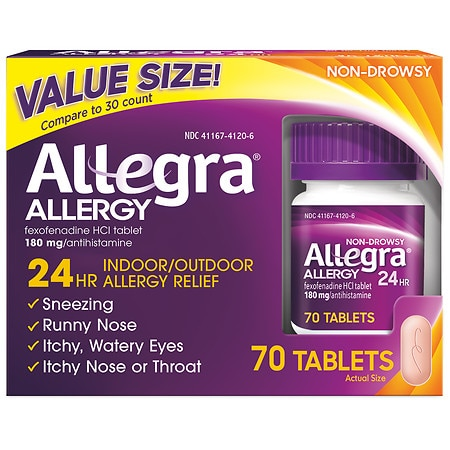 Allegra 24 Hour Allergy Relief 180mg Tablets