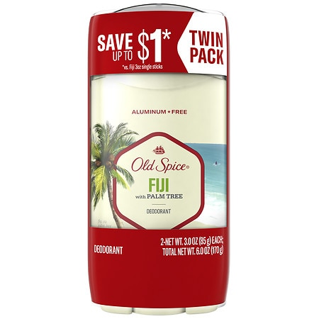 Old Spice Fresh Collection Deodorant Fiji with Palm Tree - 3 oz. x 2 pack