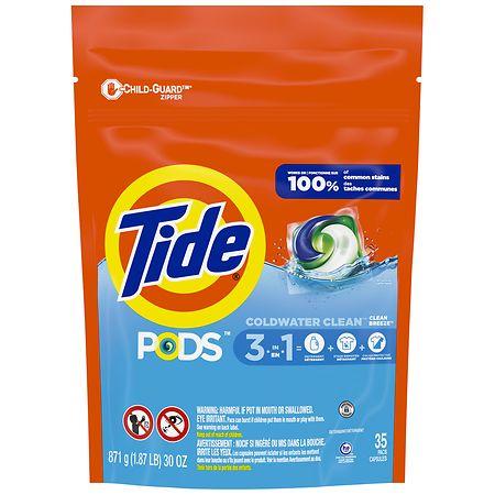 Tide Pods Laundry Detergent Pacs Ocean Mist 35 Ea