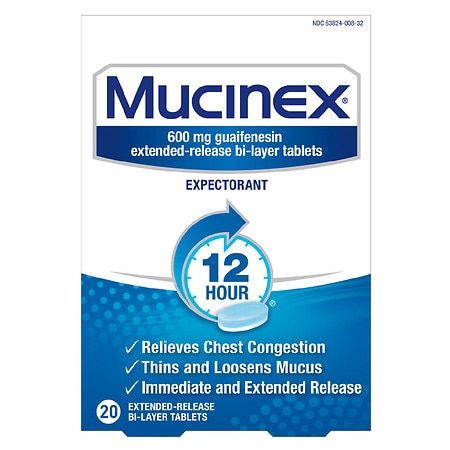 Mucinex 12 Hour Extended Release Expectorant Tablets
