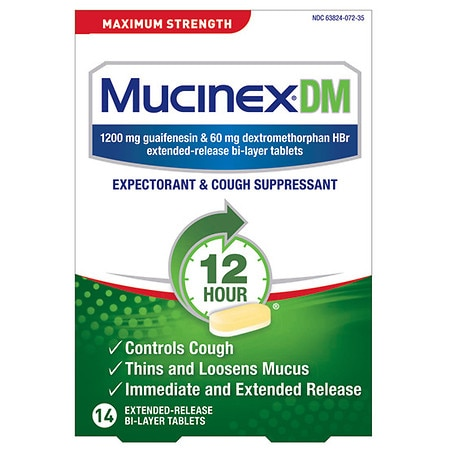 MucinexDM Expectorant & Cough Suppressant Tablets - 40 ea