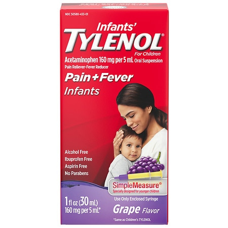 Infants' TYLENOL Acetaminophen Oral Suspension Grape - 1 fl oz
