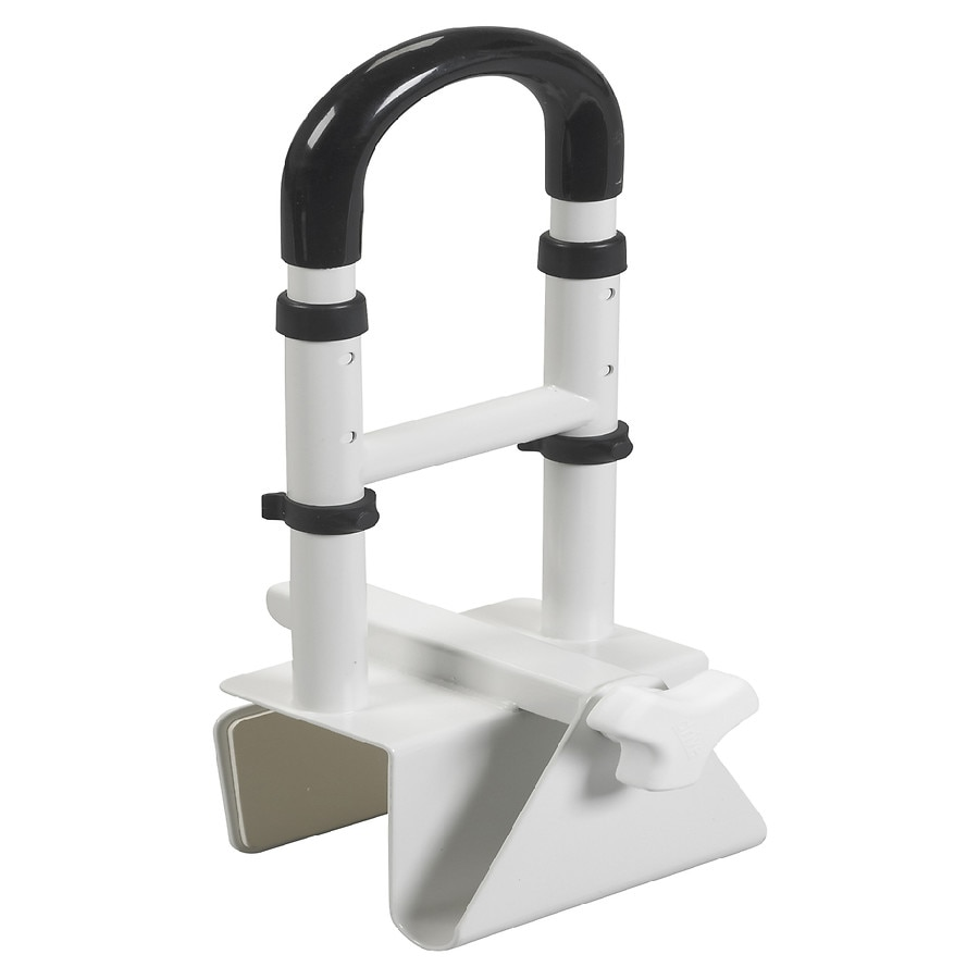 Drive Medical Adjustable Height Bathtub Grab Bar Safety Rail | Walgreens