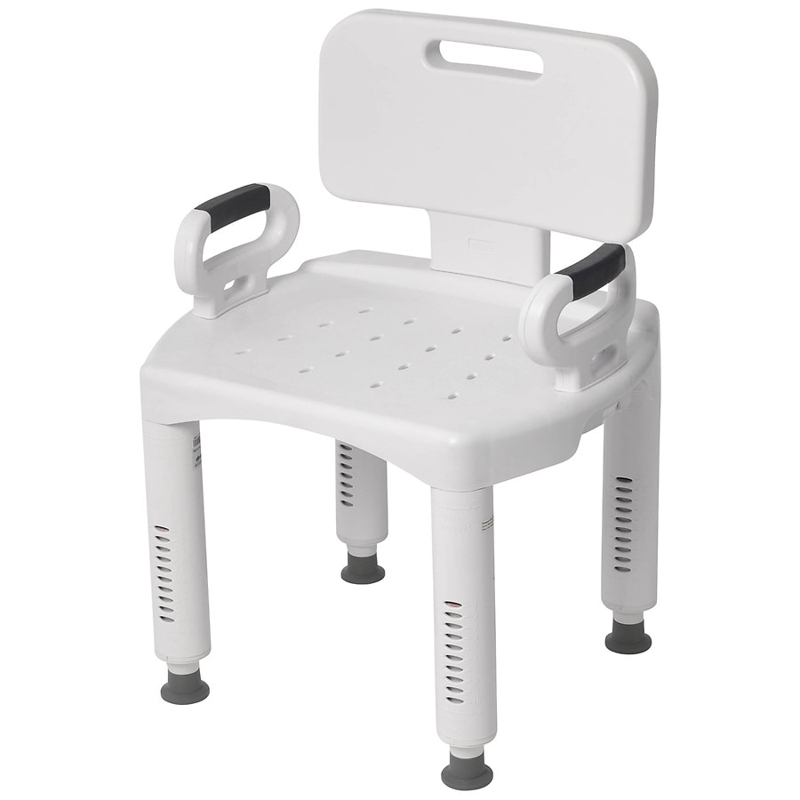 Drive Medical Premium Series Shower Chair with Back u0026 Arms1.0 ea  sc 1 st  Walgreens & Drive Medical Premium Series Shower Chair with Back u0026 Arms | Walgreens