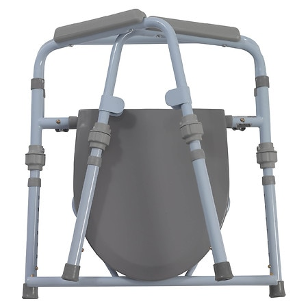 Drive Medical Folding Bedside Commode Seat with Bucket & Splash ...