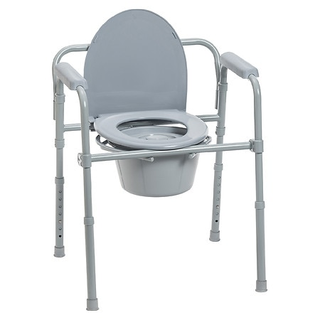 Drive Medical Steel Folding Bedside Commode - 1 ea