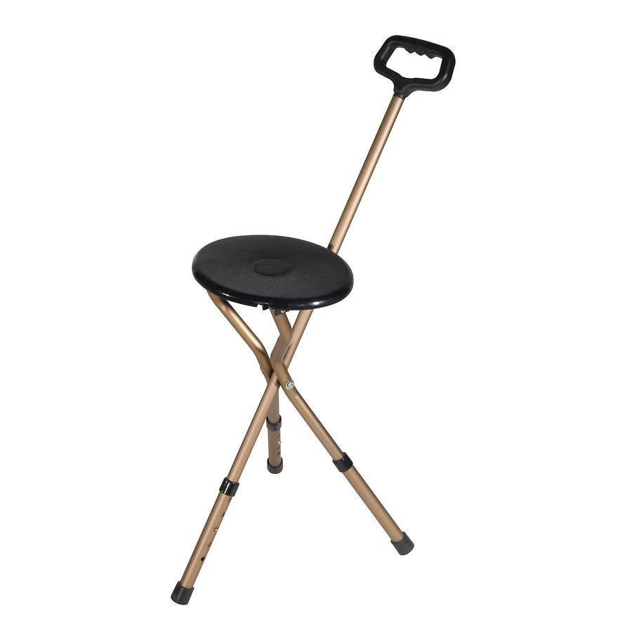 Outstanding Drive Medical Adjustable Height Folding Lightweight Cane Seat Inzonedesignstudio Interior Chair Design Inzonedesignstudiocom