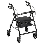 Drive Medical Rollator Walker with Fold Up and Removable Back Support and Padded Seat Black