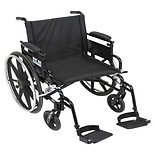 Drive Medical Viper Plus GT Wheelchair w Flip Back Removable Adjustable Desk Arm and Foot Rest 16 Inch