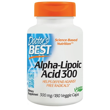 Doctor's Best Best Alpha-Lipoic Acid, 300mg, Veggie Caps