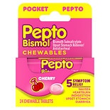Pepto-Bismol Pocket Chewable Tablets for Nausea, Heartburn, Indigestion, Upset Stomach