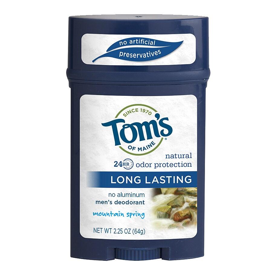 d2f0bcf2c6a Tom s of Maine Men s Long Lasting Deodorant Mountain Spring2.25 oz