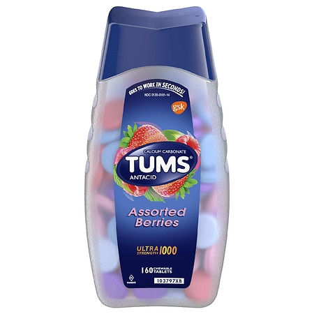 Tums Antacid Chewable Tablets Assorted Berries - 160 ea